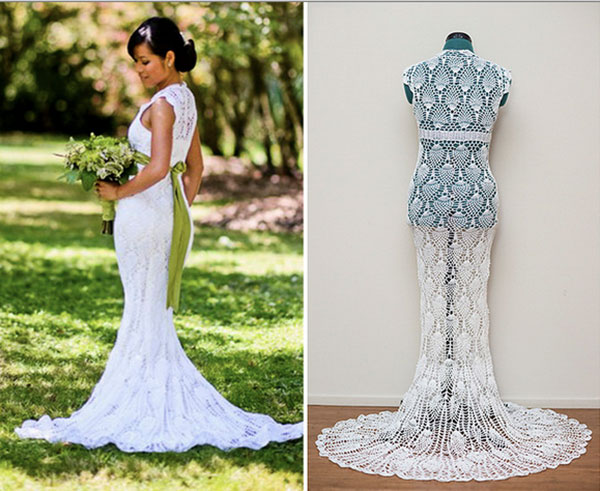 6 amazing crochet wedding dresses beautiful crochet stuff for Crochet wedding dress patterns