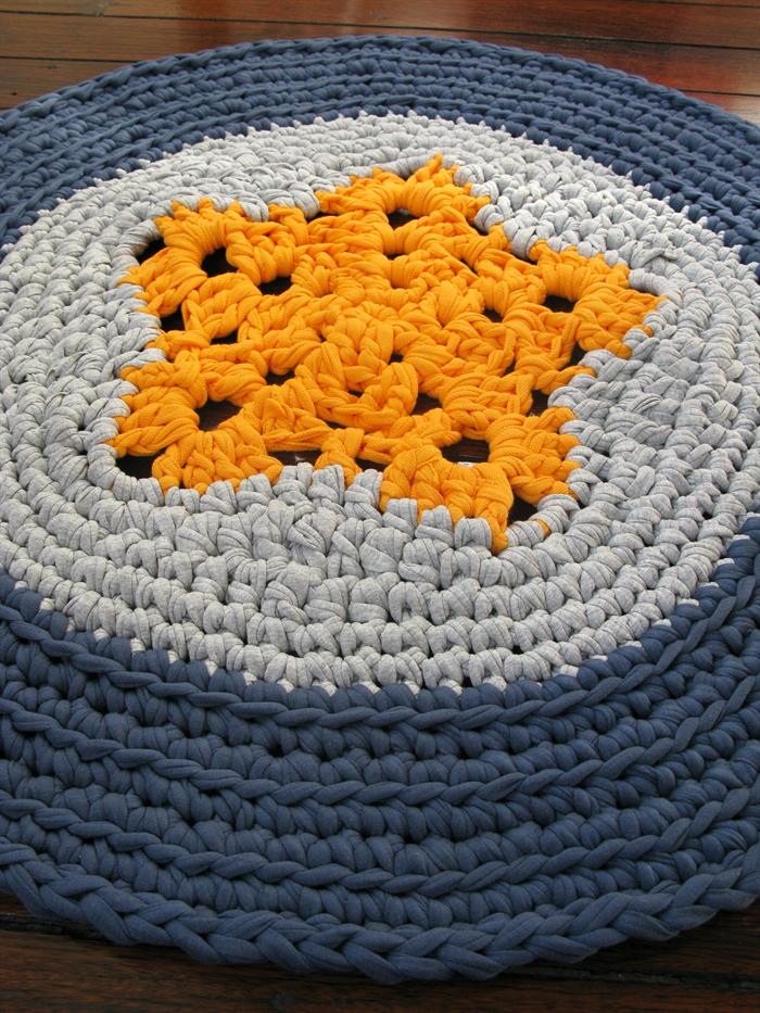 Star Crochet Rug