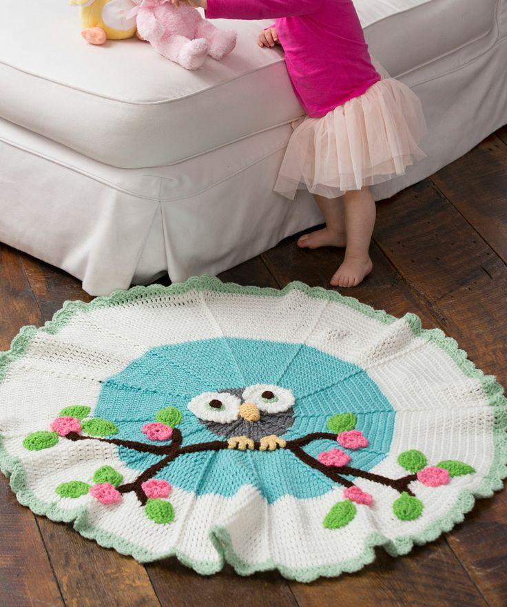 owl round baby blanket