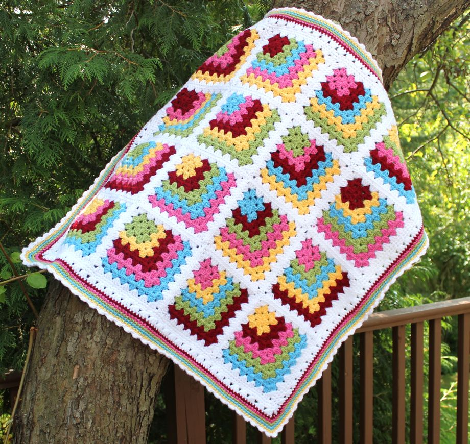 Crochet Patterns For Baby Blankets Squares : Beautiful Granny Square Inspiration Beautiful Crochet Stuff