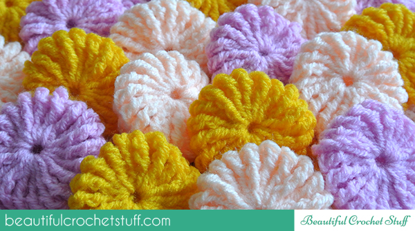Crochet Tutorial Yo-Yo Puff : Yo-Yo Puff Step-by-Step Tutorial Beautiful Crochet Stuff