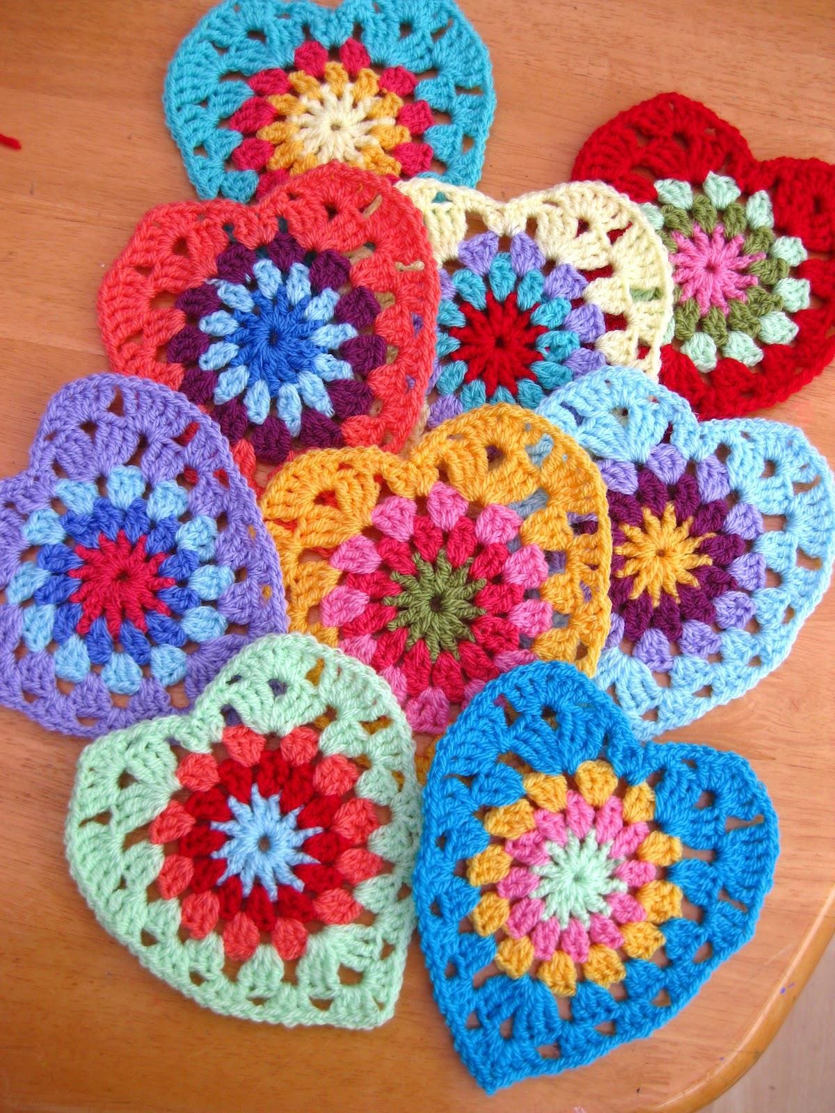 Sweet Crochet Hearts Beautiful Crochet Stuff