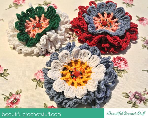 Free Crochet Double Flower Pattern : Double Flower Pattern Beautiful Crochet Stuff