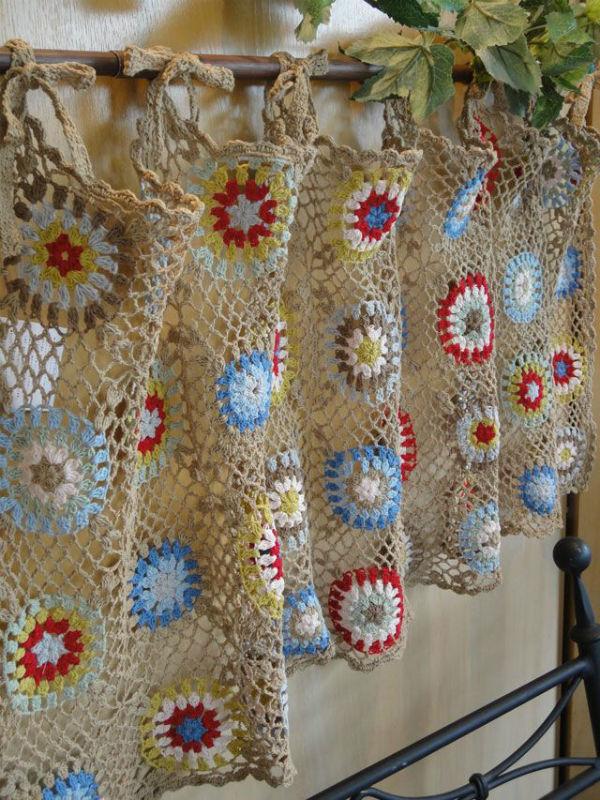 Crochet Curtain Patterns : 14 Cute Kitchen Curtains Beautiful Crochet Stuff