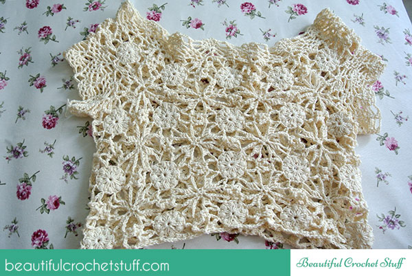 White lace dress photo tutorial diagrams beautiful crochet stuff for the skirt of the dress use the same diagram to extend the dress at the hips use the hook a little bigger than main hook and add more chains to the ccuart Images