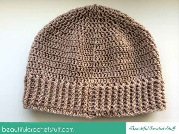 How to crochet a beanie (hat) + free pattern Beautiful Crochet Stuff