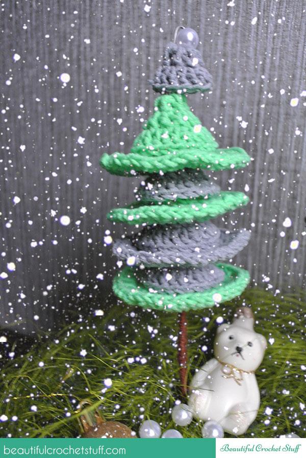 crochet christmas trees pattern