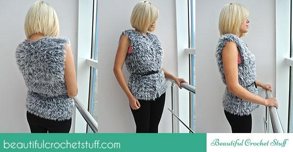 Free Easy Crochet Vest Pattern Beautiful Crochet Stuff