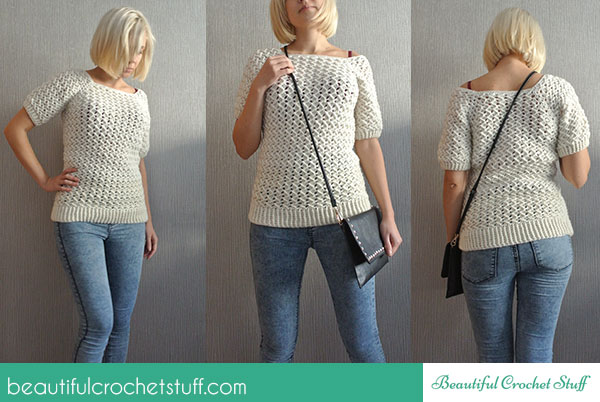 Free Crochet Sweater Pattern | Beautiful Crochet Stuff