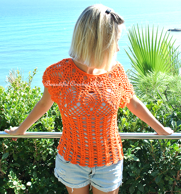 Pineapple Crochet Top Free Pattern Beautiful Crochet Stuff