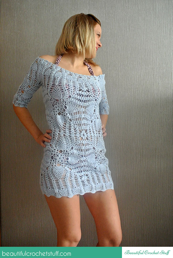 Free Pattern Crochet Cover Up : Crochet Beach Cover Up LONG HAIRSTYLES