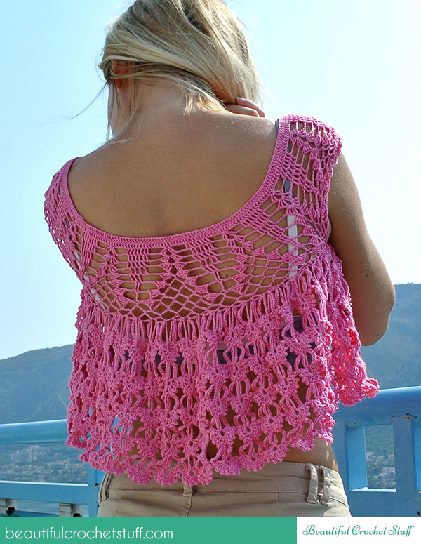 Crochet Summer Top Free Pattern Beautiful Crochet Stuff