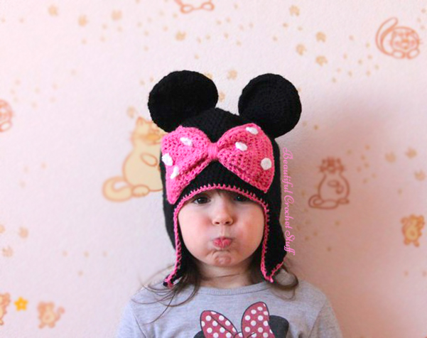 Minnie Mouse Crochet Hat Free Pattern Beautiful Crochet Stuff
