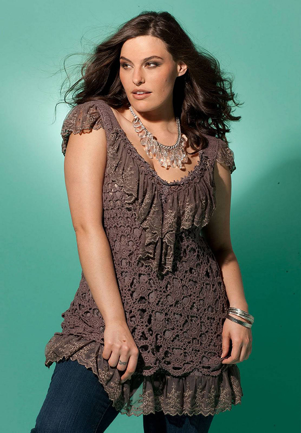 Crochet Patterns Plus Size : Plus Size Crochet Tunics Beautiful Crochet Stuff