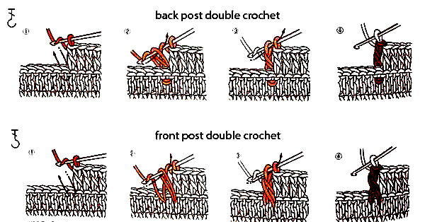 Crochet Stitches Back Post Double Crochet : ... Post and Back Post Double Crochet Stitches Beautiful Crochet Stuff