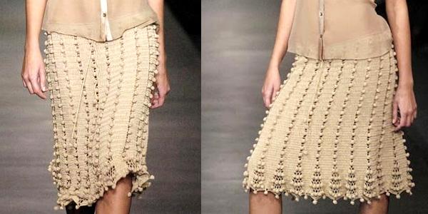 crochet bobble skirt pattern