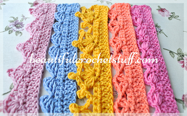 Crochet Borders Top 40 Free Patterns Beautiful Crochet Stuff Gorgeous Crochet Edging Patterns