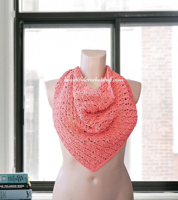 Crochet Triangle Shawl Pattern Beautiful Crochet Stuff