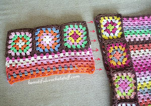 Granny Squares Cardigan Pattern Done Beautiful Crochet Stuff