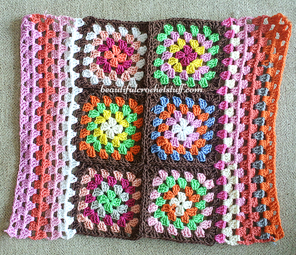 Crochet Granny Squares Pattern