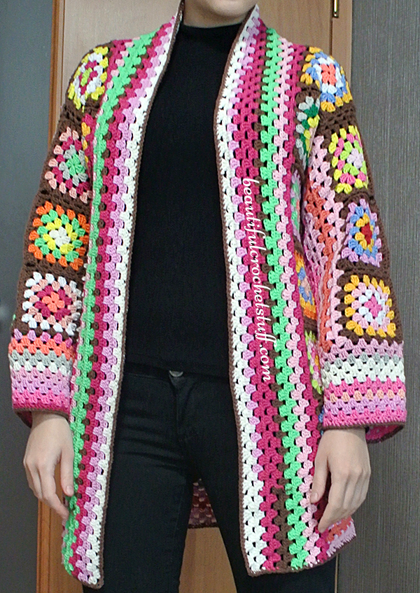 Granny Square Cardigan Pattern