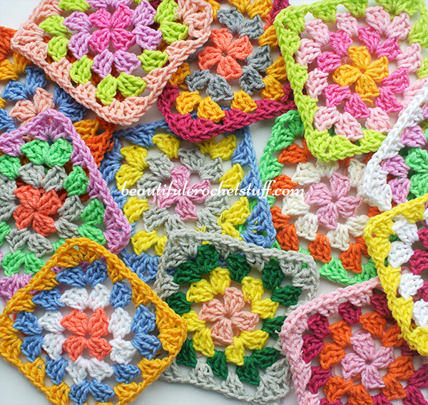 Crochet Granny Square Cardigan Pattern