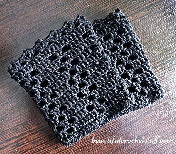 Crochet Boot Cuffs Pattern