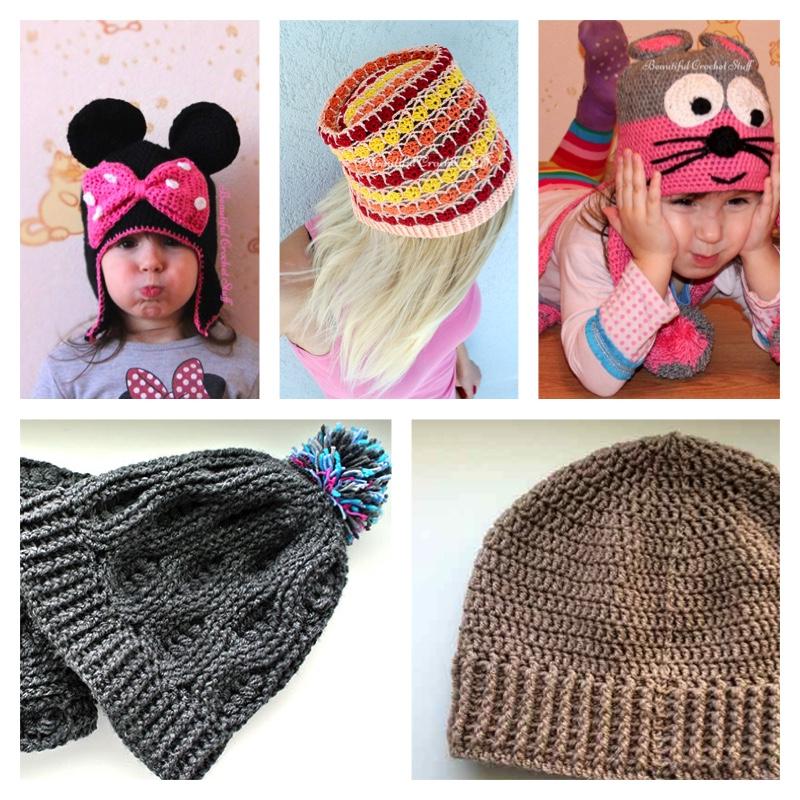 Crochet Beanies Hats Free Pattern