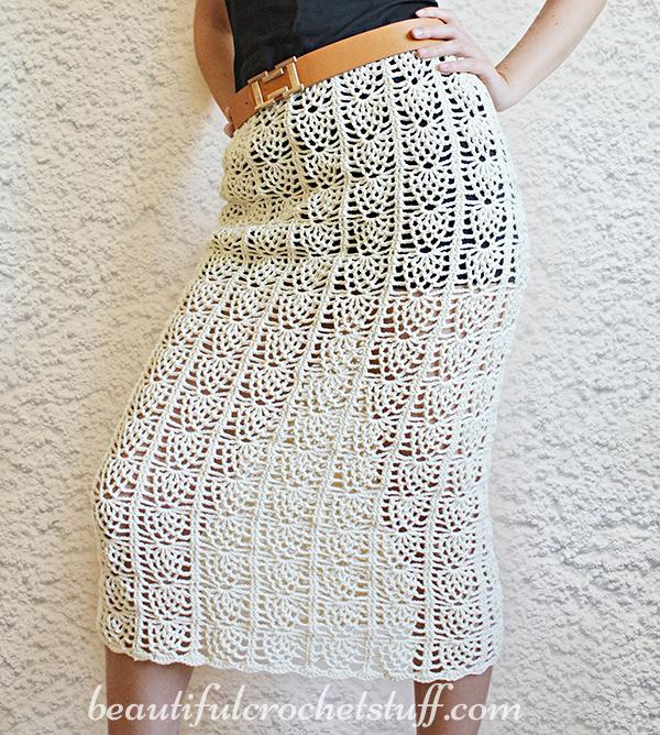Pineapple Crochet Skirt Free Pattern