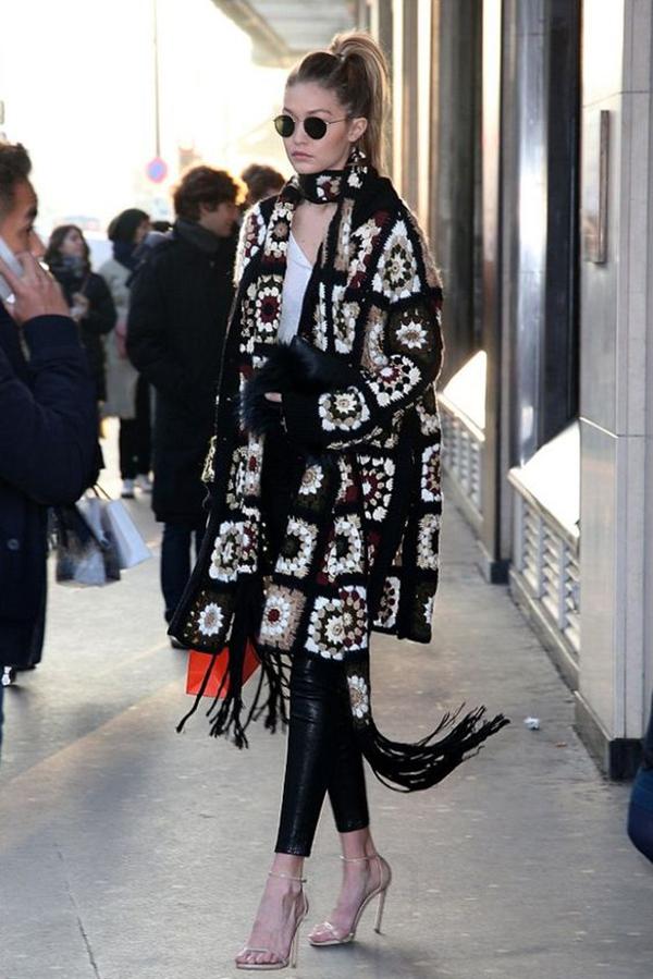 Crochet Cardigan Gigi Hadid