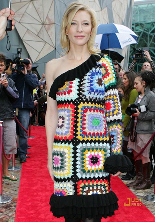Cate Blanchett Granny Square Dress