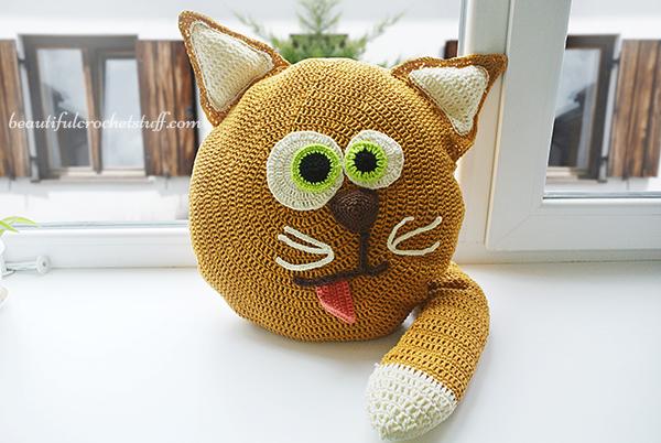 Free Crochet Cat Pillow Pattern Beautiful Crochet Stuff