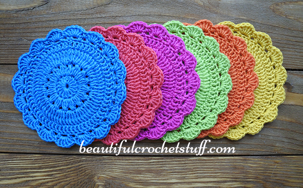 Crochet Coaster Free Pattern Beautiful Crochet Stuff New Crochet Coaster Pattern