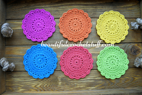 Crochet Coaster Free Pattern Beautiful Crochet Stuff