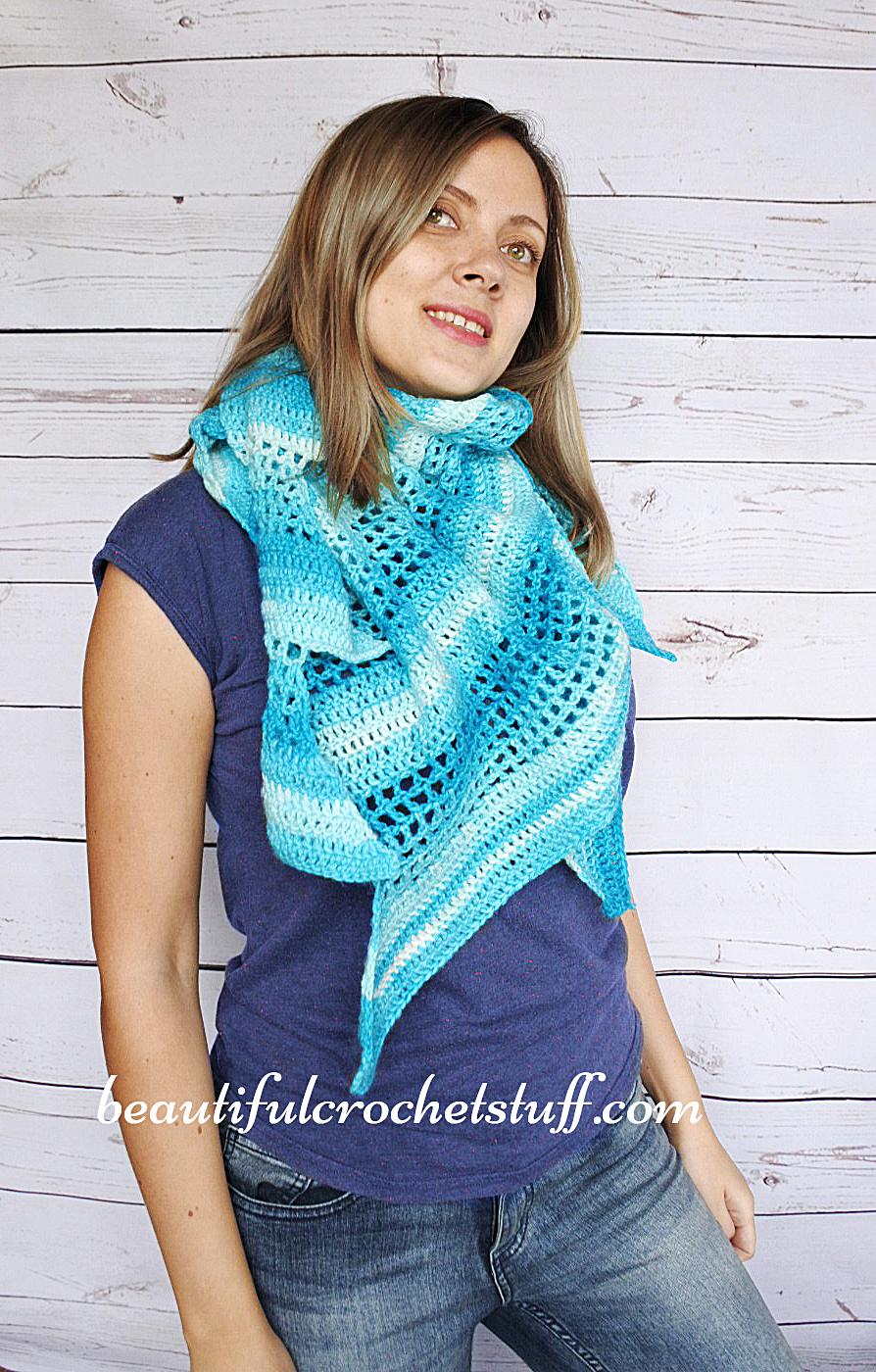 Crochet Baktus Scarf Free Pattern Beautiful Crochet Stuff